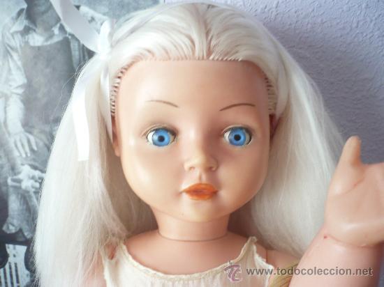 Muñeca española clasica: PRECIOSA MUÑECA ANTIGUA AÑOS 50-60 DE JESMAR, rubia ojos azules margarita VER FOTOS! regalo vestido - Foto 18 - 28244029