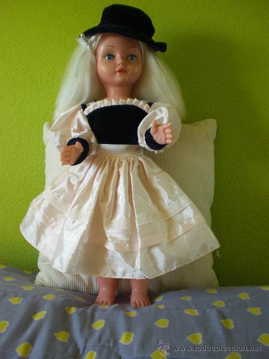 Muñeca española clasica: PRECIOSA MUÑECA ANTIGUA AÑOS 50-60 DE JESMAR, rubia ojos azules margarita VER FOTOS! regalo vestido - Foto 19 - 28244029