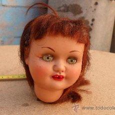 Muñeca española clasica: CABEZA MUÑECA ESPAÑOLA ANTIGUA,CARTON,MARIQUITA?CAYETANA?. Lote 28779381