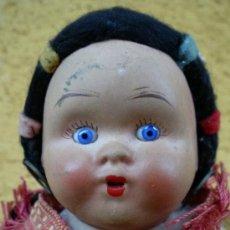 Muñeca española clasica: MUÑECA ESPAÑOLA ANTIGUA BARRO TERRACOTA OJOS CRISTAL. Lote 29421695