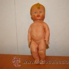 Muñeca española clasica: MUÑECO GOMA BLANDA AÑOS 50 CON PERILLA LAVATIVA. Lote 29502807
