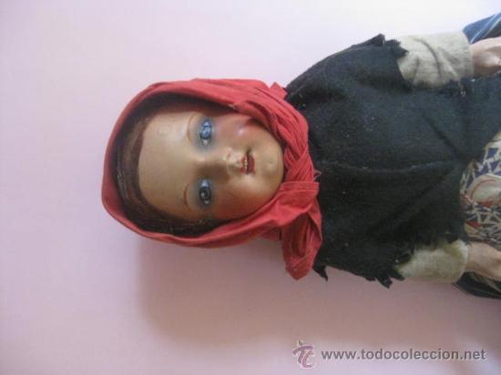 Muñeca española clasica: ANTIGUA MUÑECA ESPAÑOLA 1920- CASA PAGÉS- OJO DECORADO - ROPA DE ORIGEN. - Foto 2 - 29747831