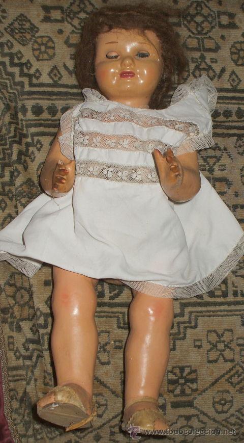 Muñeca española clasica: MUÑECA CARTON PIEDRA PRECIOSA AÑOS 50 - Foto 3 - 109455126