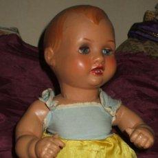 Muñeca española clasica: MUÑECO BEBE MANOLIN DE INDUSTRIAS DIANA CELULOIDE 1950. Lote 31041010