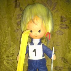 Muñeca española clasica: MUÑECO DE FIELTRO RELLENO. ESQUIADOR. 37 CM. .... Lote 31192681