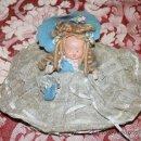 Muñeca española clasica: PRECIOSA MUÑECA DE TERRACOTA - BELLAMENTE VESTIDA - AÑOS 40. Lote 57610078
