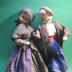 Muñeca española clasica: ANTIGUA PAREJA DE MUÑECOS EN TELA RELLENA. PAISANOS. AÑOS 1960. Lote 32981209