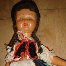 Muñeca española clasica: ANTIGUA MUÑECA VESTIDA CON EL TRAJE TÍPICO DE TENERIFE, 60CM ALTA. Lote 33330675