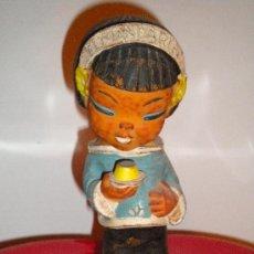 Muñeca española clasica: MUÑECA DE GOMA PROPAGANDA FLAN MANDARIN (CON SILBATO CUANDO APRETAS). Lote 33514265