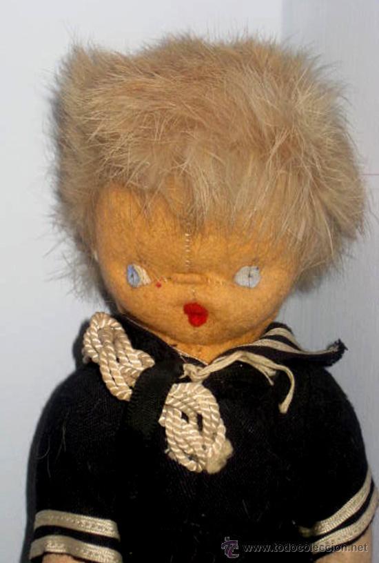 Muñeca española clasica: ANTIGUO MUÑECO CURRO DE LOS AÑOS 40 . EL PELO ES DE PIEL MUY SUAVE- LA ROPA ES DE ORIGEN, - Foto 2 - 33537138