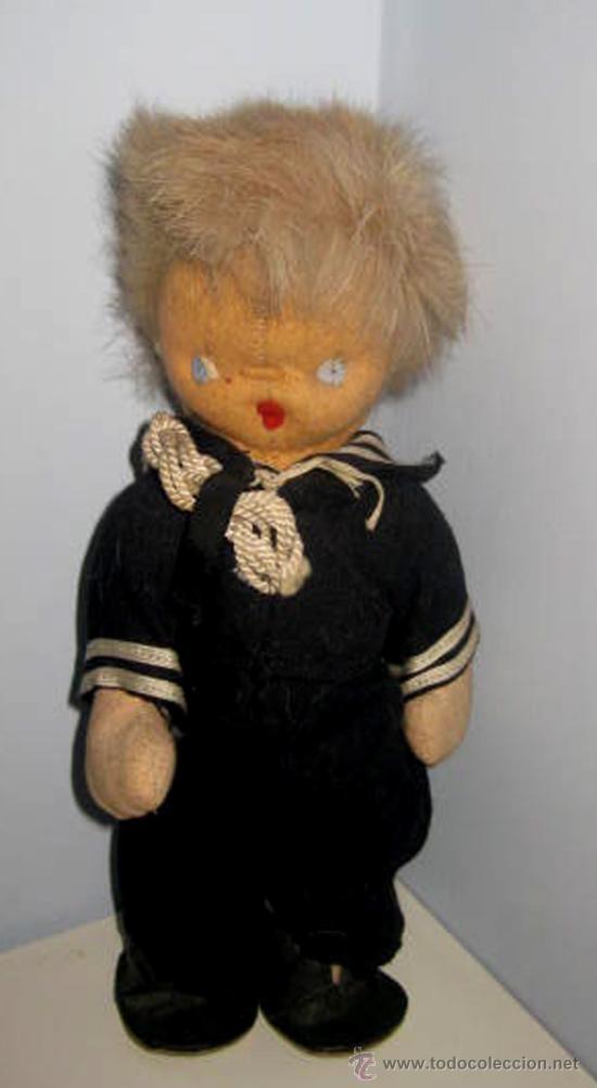 Muñeca española clasica: ANTIGUO MUÑECO CURRO DE LOS AÑOS 40 . EL PELO ES DE PIEL MUY SUAVE- LA ROPA ES DE ORIGEN, - Foto 3 - 33537138