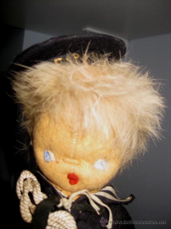 Muñeca española clasica: ANTIGUO MUÑECO CURRO DE LOS AÑOS 40 . EL PELO ES DE PIEL MUY SUAVE- LA ROPA ES DE ORIGEN, - Foto 4 - 33537138