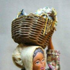 Muñeca española clasica: MUÑECA ESPAÑOLA, TERRACOTA, REGIONAL, ROPA ORIGINAL, 1940S. Lote 34611645