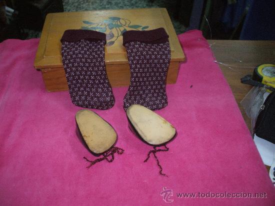 Muñeca española clasica: Zapatos y calcetines de muñeca años 50 (ver foto adicional y leer descripcion ) - Foto 2 - 34899814