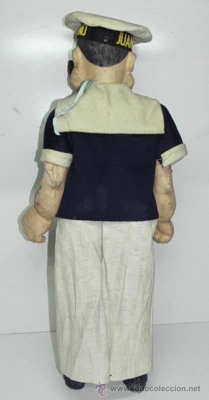 Muñeca española clasica: ANTIGUO GRAN MUÑECO POPEYE ANDADOR - PIEZA DE MUSEO - AÑOS 30 - Foto 6 - 154219284