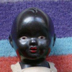 Muñeca española clasica: DESGUACE BEBÉ DE TERRACOTA NEGRO NEGRITO ANTIGUO MARCADO. Lote 36070506
