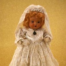 Muñeca española clasica: MUÑECA EN TERRACOTA DE COMUNIÓN - VESTIDO ORIGINAL - AÑOS 30 - 40. Lote 36224510