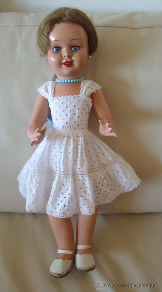 Muñeca española clasica: MUÑECA TERESIN fabricada por E. Dura A, Onil, años 50. - Foto 2 - 36662663