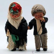 Klassische spanische Puppen - Pareja chulapos Madrid muñecos terracota traje típico años 40 15 cm alto - 36795324