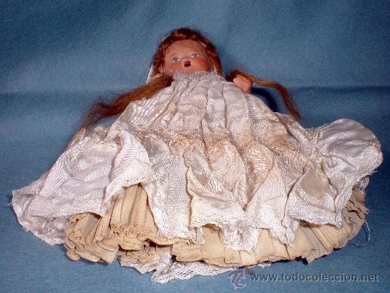 Muñeca española clasica: ANTIGUA MUÑEQUITA DE COMUNION EN TERRACOTA Y VESTIDO ORIGINAL 15 CM. AÑOS 1935-1940 - Foto 3 - 36905280