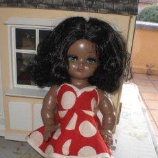 Muñeca española clasica: ANTIGUA MUÑECA LINDA PIRULA NEGRITA AÑOS 50. Lote 37368938