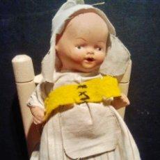 Muñeca española clasica: GRACIOSA MUÑECA DE TERRACOTA CON VESTIDO ORIGINAL. . Lote 39441773