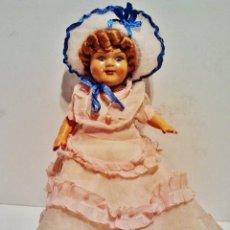 Muñeca española clasica: MUÑECA DE CARTÓN CON CUERDA DE MOVIMIENTO EN EL INTERIOR. OJOS DE CRISTAL Y VESTIDO ORIGINAL. . Lote 39513405