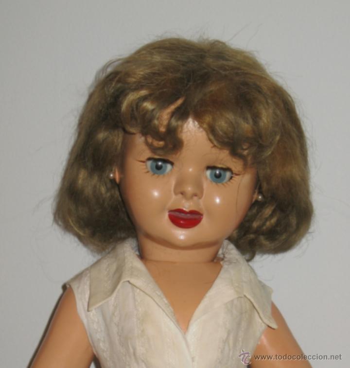 Muñeca española clasica: Fantastica muñeca antigua Teresin. Cabeza de celuloide marcada en la nuca con su nombre,cabello de - Foto 2 - 39581027