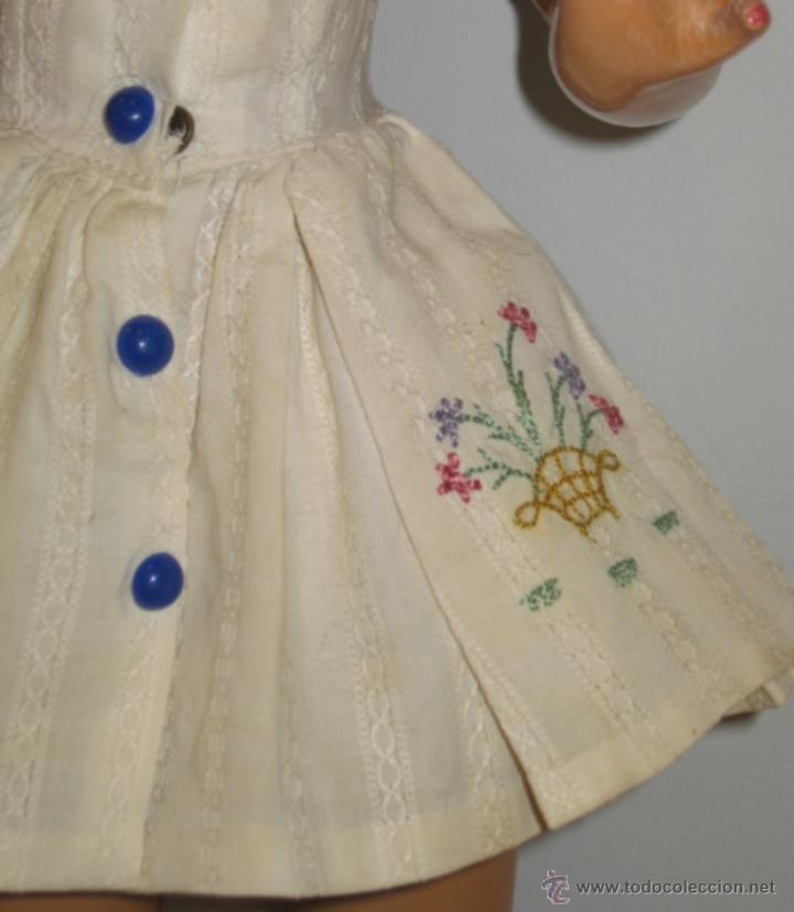 Muñeca española clasica: Fantastica muñeca antigua Teresin. Cabeza de celuloide marcada en la nuca con su nombre,cabello de - Foto 3 - 39581027
