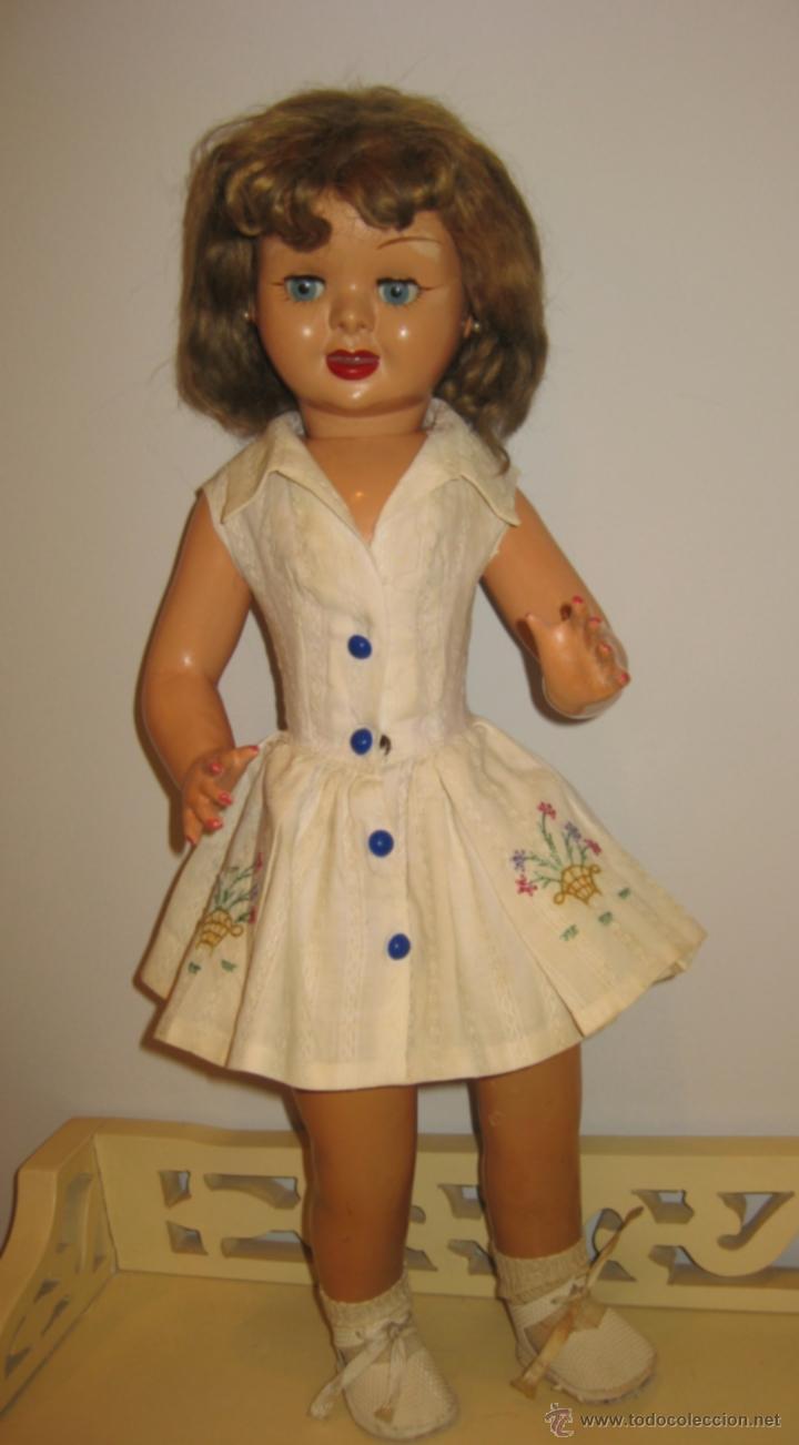 Muñeca española clasica: Fantastica muñeca antigua Teresin. Cabeza de celuloide marcada en la nuca con su nombre,cabello de - Foto 4 - 39581027