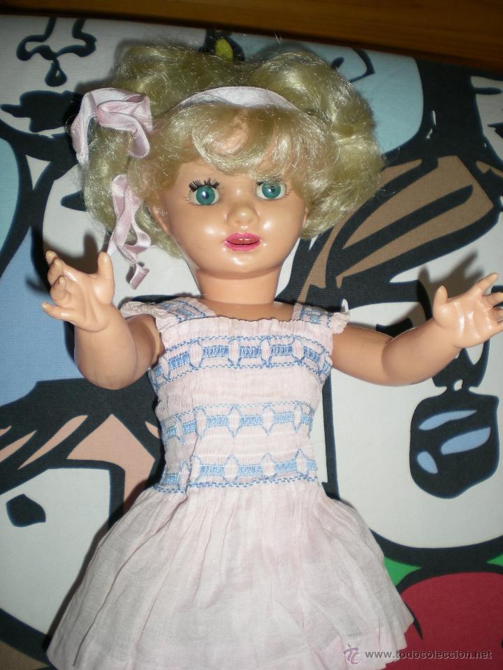 Muñeca española clasica: PRECIOSA MUÑECA GINA FAMOSA COMPLETA DE ORIGEN AÑOS 50 MIDE 51 CM NO JUGADA - Foto 10 - 40143818