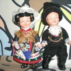 Muñeca española clasica: PAREJA DE MUÑECAS DE REGIONAL DE SALAMANCA SON CHARROS AÑOS 50 ARTESANIA HECHA A MANO COMO NUEVAS. Lote 40144707