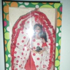 Muñeca española clasica: ANTIGUA MUÑECA FLAMENCA ARTESANIA SOUVENIR ESPAÑA AÑOS 50 NUEVA DE ALMACEN CERRADO MARIN??. Lote 40285494