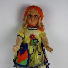 Muñeca española clasica: MUÑECA N.A.T.I - COMPOSICIÓN CON PIEL DE MELOCOTÓN (FIELTRO) - 75 CM - AÑOS 20. Lote 40445993