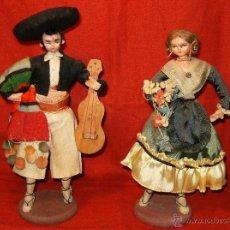 Muñeca española clasica: BONITA Y ANTIGUA PAREJA DE MUÑECOS VESTIDOS CON TRAJES REGIONALES FALLEROS ?. Lote 40622897