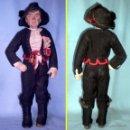 Muñeca española clasica: ANTIGUO MUÑECO DE CARTON PIEDRA PINTADO DE 48 CM. VESTIDO DE CHARRO FESTIVO (SALAMANCA). Lote 44427340