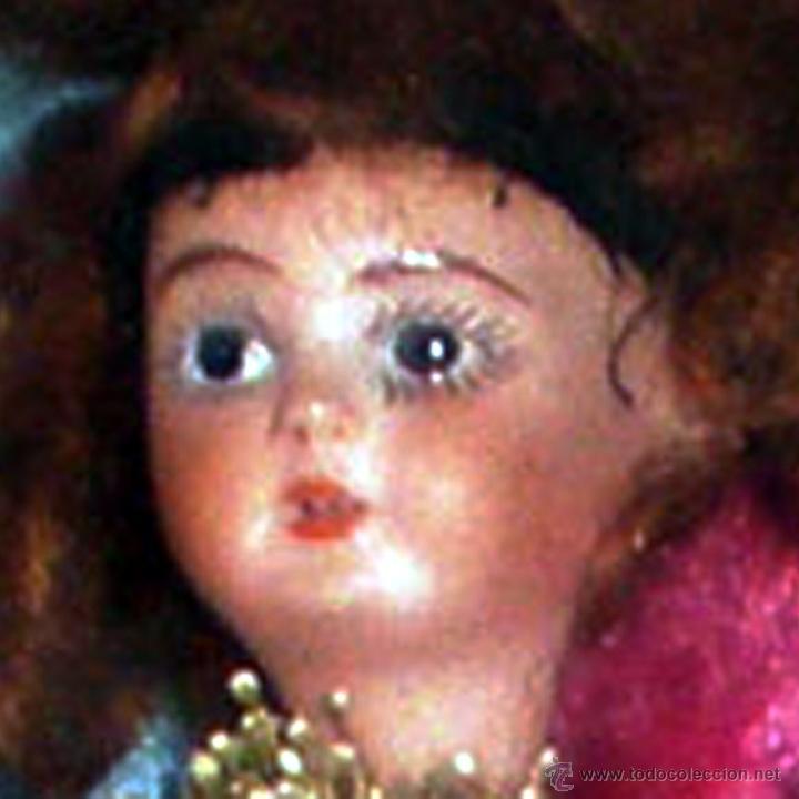 Muñeca española clasica: PPIOS.S.XIX.-BALL DE RAM,CABECITA D. PORCELANA SOBRE ALAMBRE FORRADO Y DECORADO. REGALO DEL BAILADOR - Foto 2 - 41289663