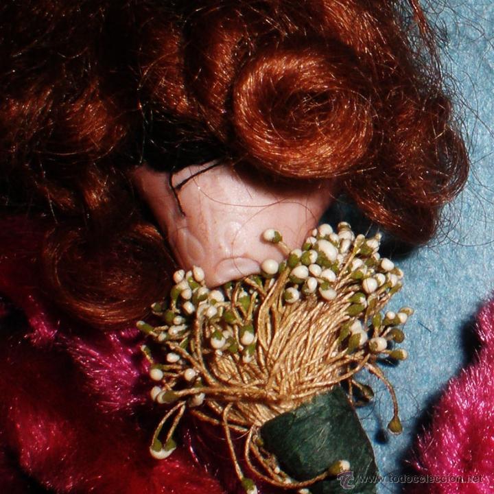 Muñeca española clasica: PPIOS.S.XIX.-BALL DE RAM,CABECITA D. PORCELANA SOBRE ALAMBRE FORRADO Y DECORADO. REGALO DEL BAILADOR - Foto 4 - 41289663