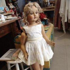 Muñeca española clasica: PRECIOSA MUÑECA MUY ANTIGUA DE CARTÓN PIEDRA. Lote 41543290
