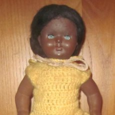 Muñeca española clasica: MUÑECA NEGRA DE CELULOIDE,AÑOS 50. Lote 41659198