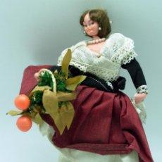 Muñeca española clasica: MUÑECA VALENCIANA FIELTRO TRAPO TRAJE REGIONAL AÑOS 50 26 CM ALTO. Lote 41670567