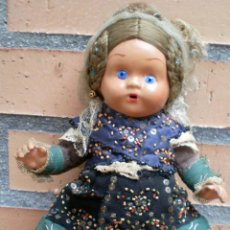 Muñeca española clasica: MUÑECA ESPAÑOLA ANTIGUA BARRO TERRACOTA OJOS CRISTAL. Lote 42189534