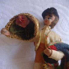 Muñeca española clasica: ANTIGUA FIGURA O MUÑECO VALENCIANO EN FIELTRO CON ALFORJAS Y VESTIMENTA TRADICIONAL ROLDAN?. Lote 42504611