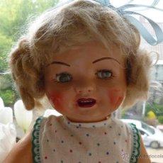 Muñeca española clasica: MUÑECA ANTIGUA DE CARTÓN PIEDRA DE SERAFÍN CALVO. Lote 42983723
