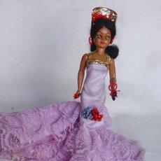 Muñeca española clasica: MUÑECA GITANA. BAILAORA BATA DE COLA PEINETA CASTAÑUELAS-ARTICULADA-OJOS DURMIENTES-18 CM-CIRCA 1960. Lote 43261060