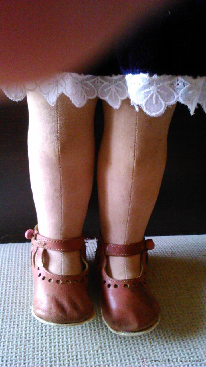 Muñeca española clasica: Antigua muñeca PAGES de cartón piedra,pastas,tejido rellena de serrín .Ojos de cristal. - Foto 8 - 43275349