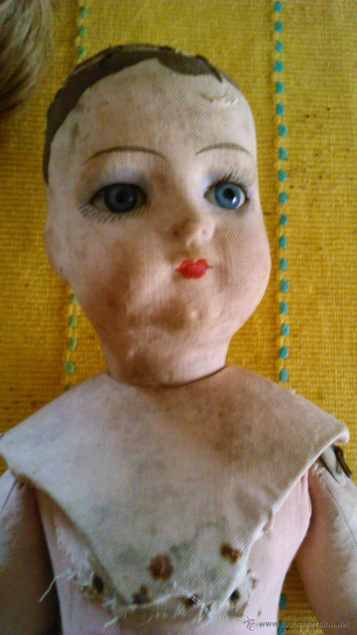 Muñeca española clasica: Antigua muñeca PAGES de cartón piedra,pastas,tejido rellena de serrín .Ojos de cristal. - Foto 15 - 43275349