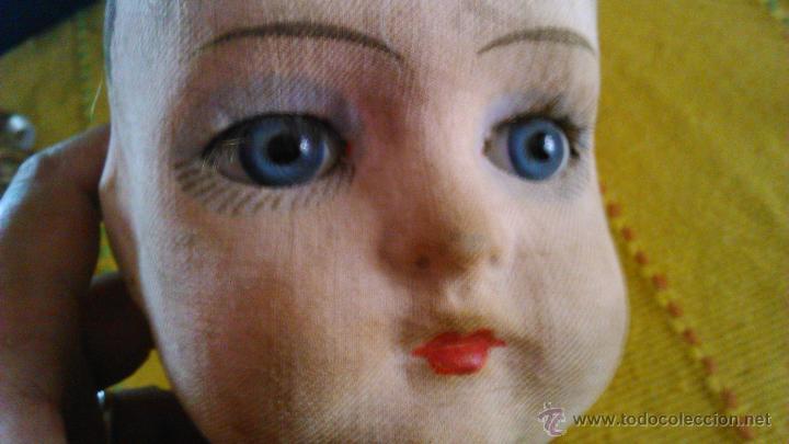Muñeca española clasica: Antigua muñeca PAGES de cartón piedra,pastas,tejido rellena de serrín .Ojos de cristal. - Foto 16 - 43275349