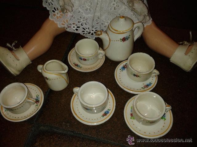 Muñeca española clasica: Juego loza para café de muñeca como Mariquita Perez y sus amigas LA MUÑECA NO SE INCLUYE - Foto 2 - 43639563