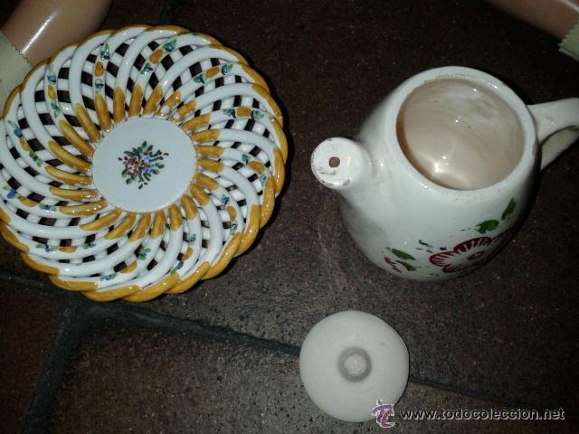 Muñeca española clasica: Bonito frutero de loza y jarra para el cafe de muñeca como Mariquita Perez. LA MUÑECA NO SE INCLUYE - Foto 2 - 43639607